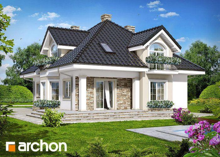 Dom w kokosach Fot. Archon #dom #projektdomu www.domowy.pl