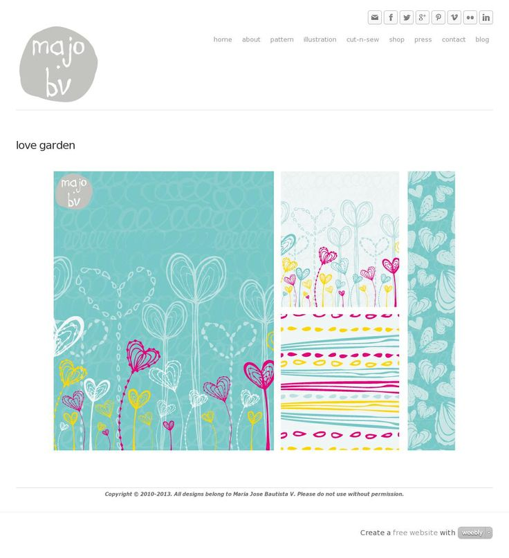 Love Garden by ©MaJoBV http://www.majobv.com/love-garden.html :: pattern :: floral :: hearts