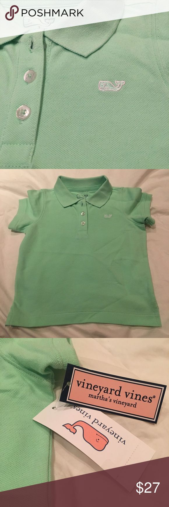Vineyard Vines Outlet Short Sleeve Classic Polo Brand new mint Green polo in solid mangrove. Still has the tags! Vineyard Vines Shirts & Tops Polos