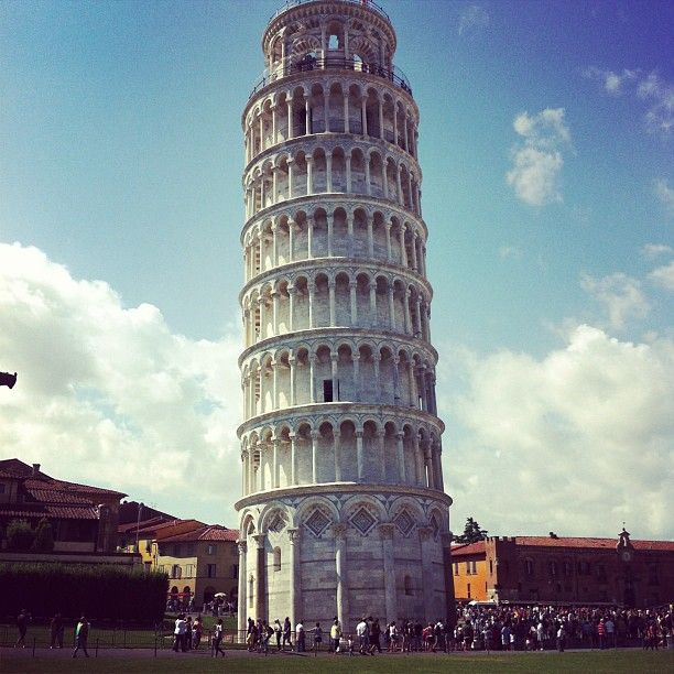 The Leaning Tower was so cool tower to go up in.  It didn't have any railings on it when I when.  The cathedral near it was beautiful.