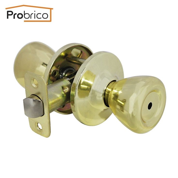 135.99$  Know more - http://aih40.worlditems.win/all/product.php?id=32793726451 - Probrico 10 PCS Privacy Door Lock Stainless Steel Safe Lock Gold Door Handles Door Keyless Lock Knobs DL576PBBK