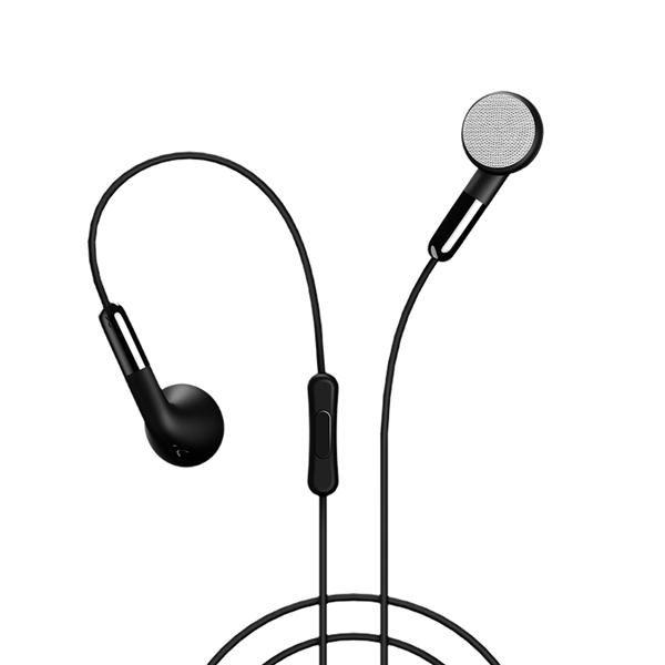 USAMS EP-16 3.5mm Plug TPE Cable Flat-ear Wire Control Dynamic Driver HiFi Earph…
