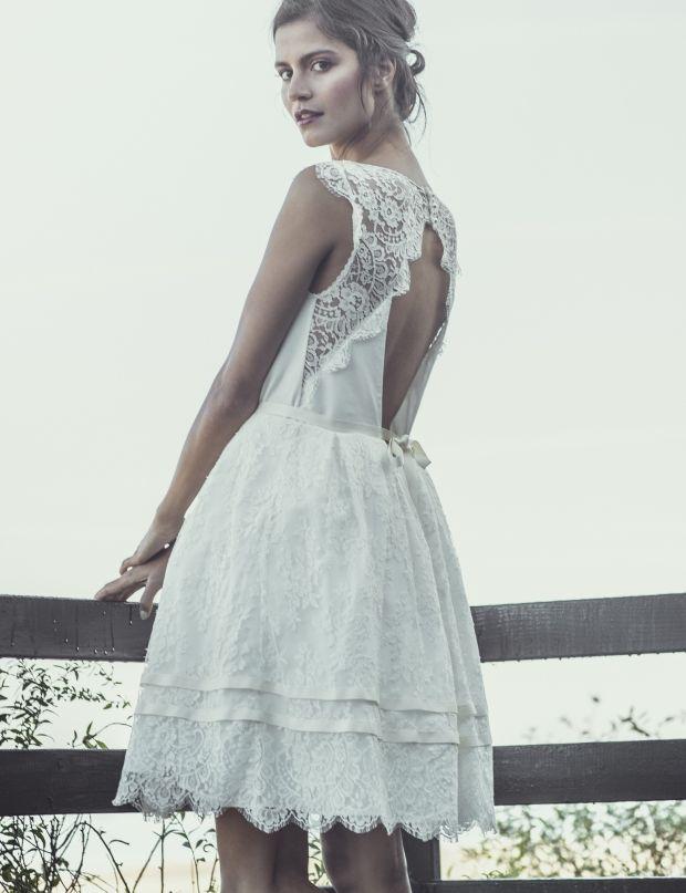 Robe de mariée courte Laure de Sagazan