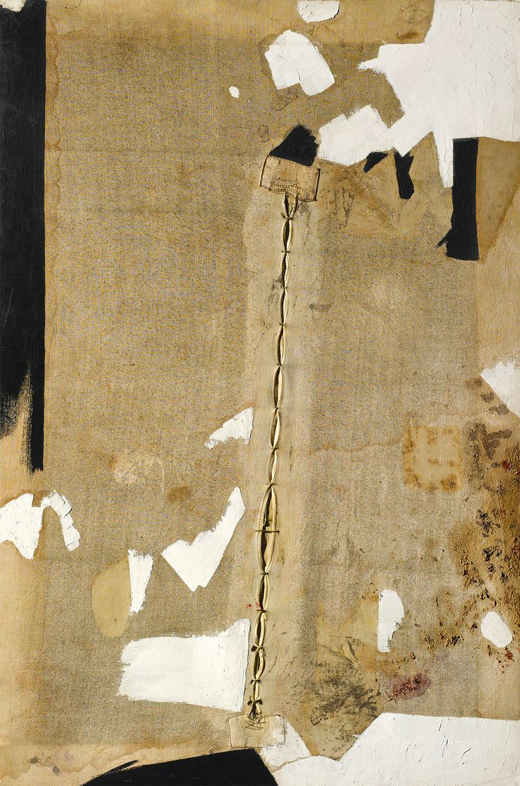 """Lo Strappo"" (The Rip) 1952 Alberto Burri on view at the Guggenheim through January 6: http://gu.gg/Rt4uR"