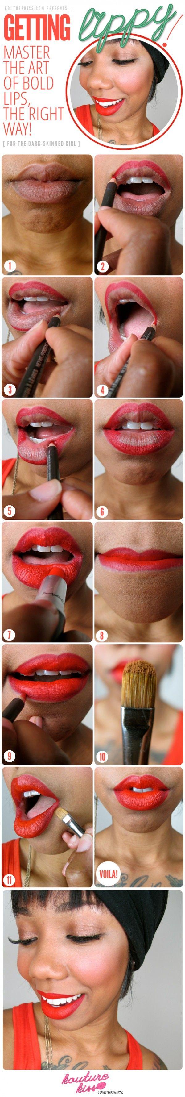 Getting Lippy! Bold Lips For The Dark Skinned Girl - Kouturekiss - Your One Stop Everything Beauty Spot - kouturekiss.com.