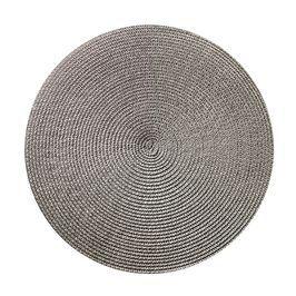Platzset rund grau ca D:38 cm (79% Polypropylen, 21% Polyester)