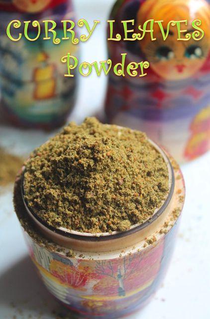 YUMMY TUMMY: Curry Leaves Powder Recipe - Karuveppilai Podi Recipe