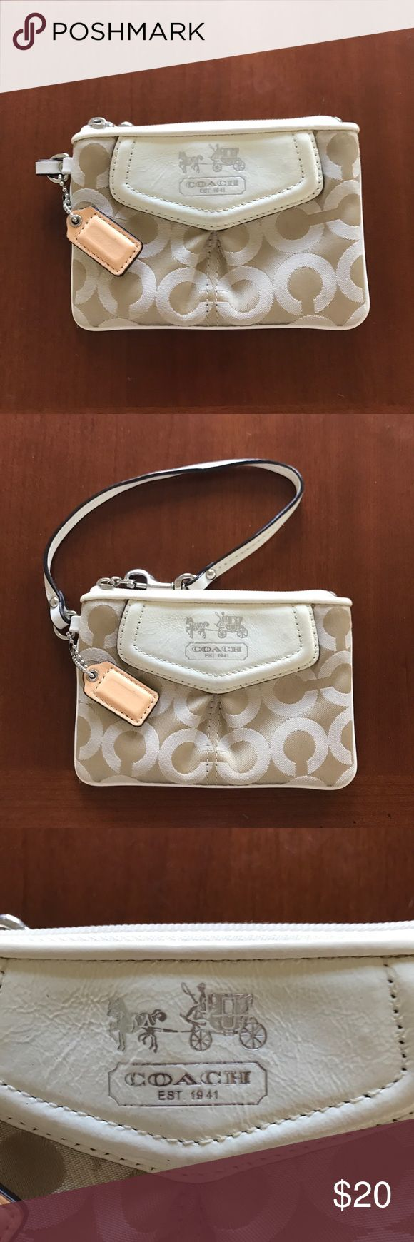 Coach wristlet Coach wristlet   Approximately 4x6 .Great for credit cards, lip gloss, keys...  wonderful condition Coach Bags Clutches & Wristlets