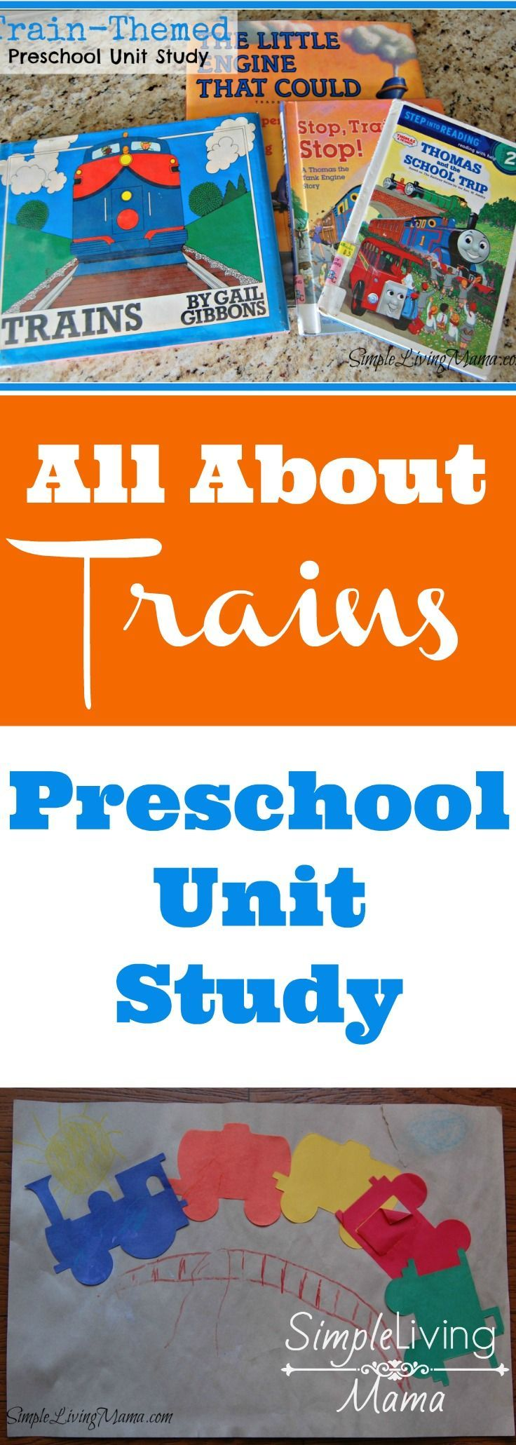 Unit study colors preschool - All About Trains A Preschool Unit Study On Trains