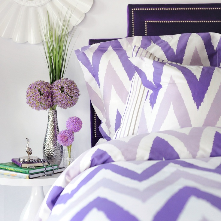 Purple chevron duvet set: Decor, Guest Room, Mia Bedding, Mia Duvet, Purple Chevron, Bedding Sets, Chevron Bedding, Duvet Bedding, Bedroom Ideas