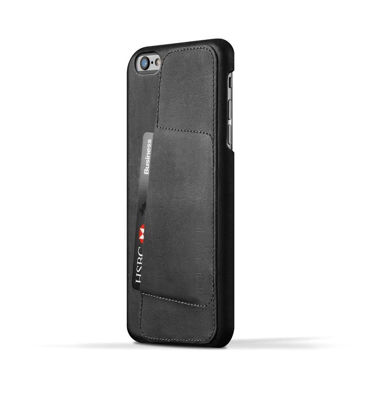 Leather Wallet Case 80° for iPhone 6 Plus - Black