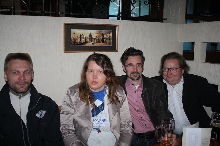We were at Vvaltava restaurant with Pyhis team.