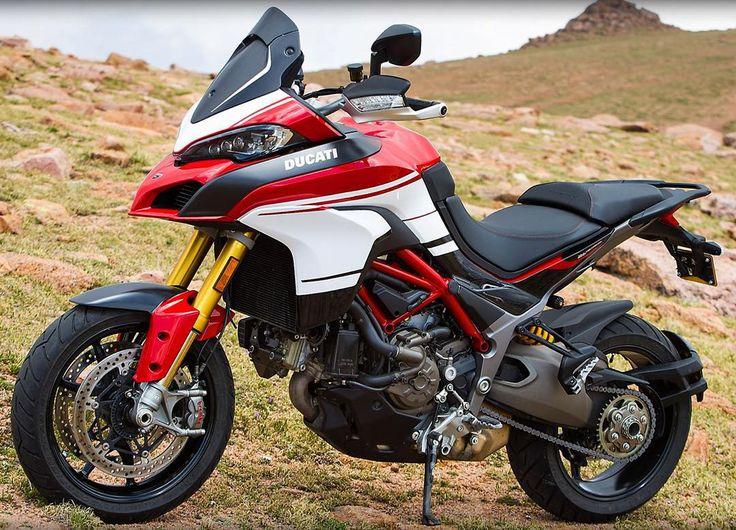 """Race-inspired look and cutting-edge technology combine to create the race-replica Multistrada 1200 Pikes Peak.  #Ducati2016 | #multistrada1200 | #pikespeak"""