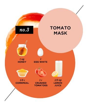 Inflammation-Fighting Tomato Face Mask + 14 more masks to combat skin problems #skincare #mask