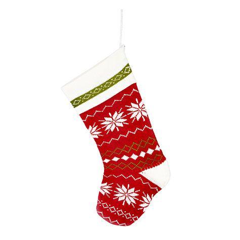 Buy John Lewis Snowflake Knitted Christmas Stocking Online at johnlewis.com