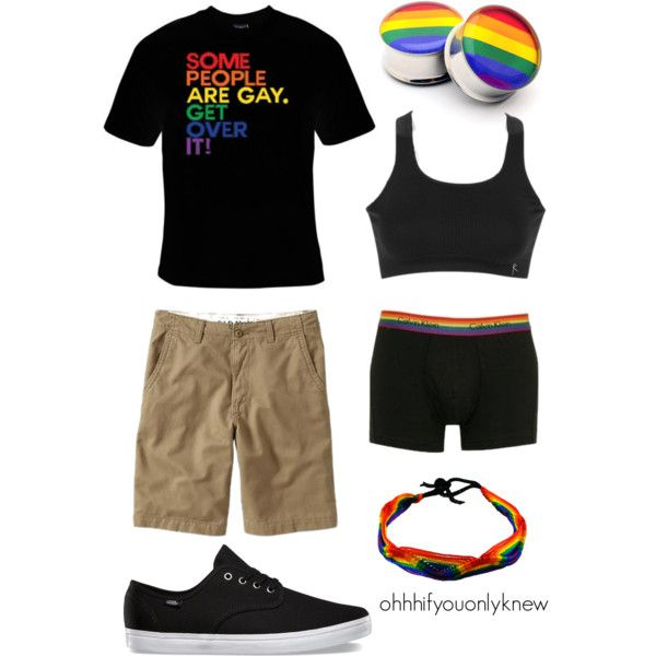 Be Proud of Who You Are by ohhhifyouonlyknew on Polyvore featuring Danskin, Old Navy, Calvin Klein, lgbt and Lesbian