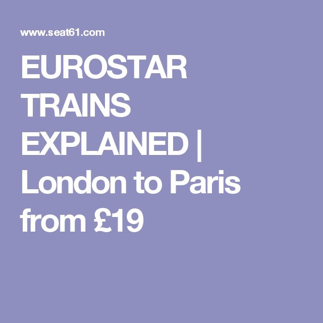 EUROSTAR TRAINS EXPLAINED | London to Paris from £19