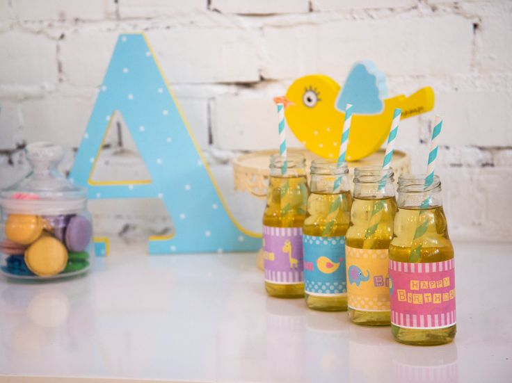 Birthday party FUNNY ZOO наклейки на бутылочки ВЕСЕЛЫЙ ЗООПАРК