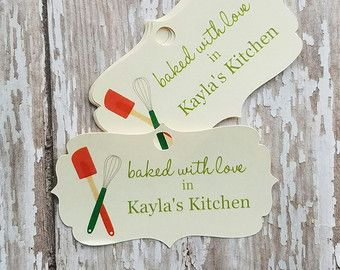 Baked with Love Tag, From My Kitchen to Yours, Christmas ...