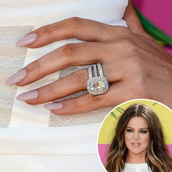 Khloé Kardashian: Khloé Kardashian opted for a suble mauve hue for her Kids Choice manicure. Perhaps she picked the pastel color to match her canary yellow diamond ring . . .