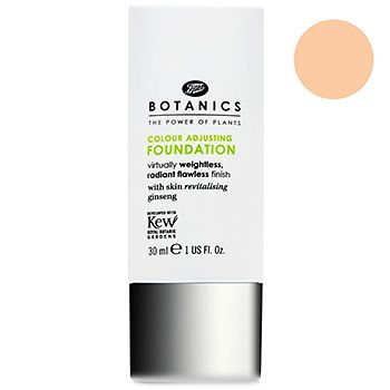 """Boots Botanics Colour Adjusting Foundation - I bought this in the lightest shade. Its way too dark for my skin even though it is """"colour adjusting"""""""