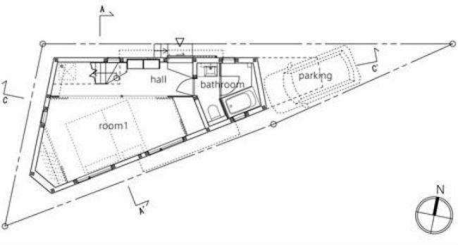Con la finalidad de entender dónde y qué se encuentra en esta casa, presentamos a tu consideración el plano de la casa desde arriba.