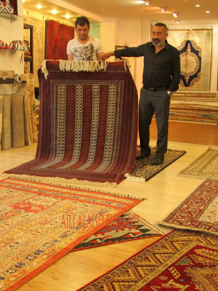 Visiting the carpet store in Alania