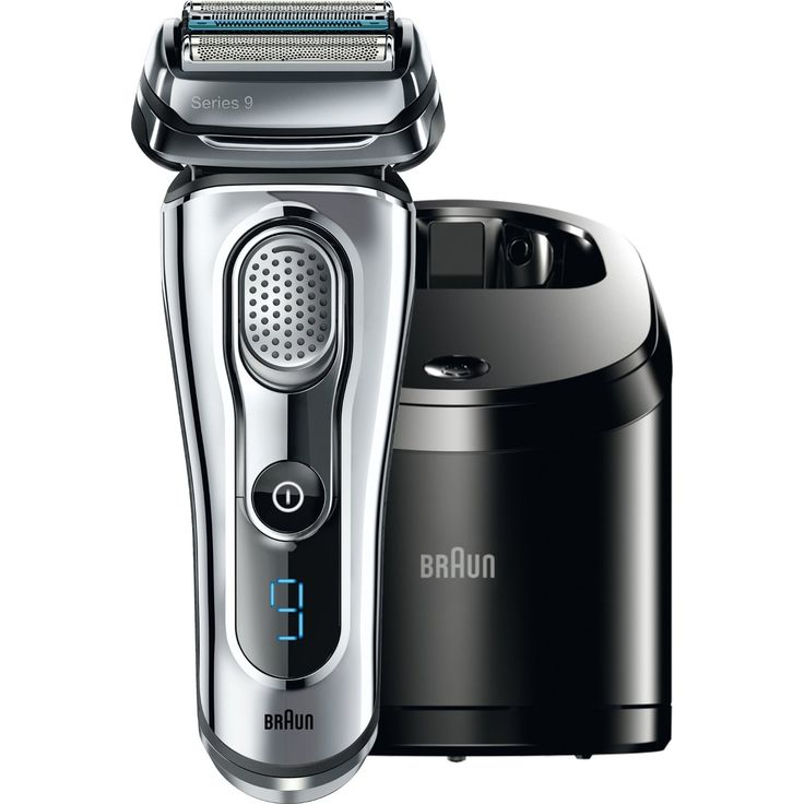 1. Electric Shaver with Cleaning Center
