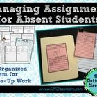 """The printables and system described in this packet will help make your job much easier. The packet includes: -a note to send home when you know about an absence in advance -a printable to use on the cover of a folder -""""While You Were Out"""" notes to attach to assignments -a tracking sheet for managing work that has been sent home and completed."""