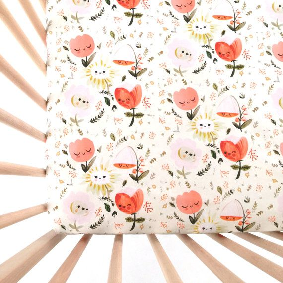Crib Sheet Wonderland. Fitted Crib Sheet. Baby by Iviebaby on Etsy