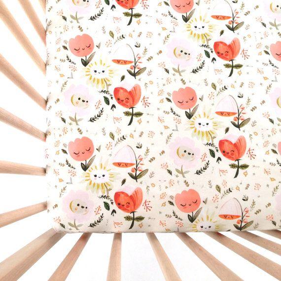 Crib Sheet Wonderland. Fitted Crib Sheet. Baby by Iviebaby on Etsy