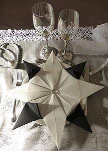 Pliage de serviette de table en forme d'étoile, etoile en papier, origami…