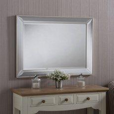 Art Deco Double Bevelled Mirror 104 x 76cm