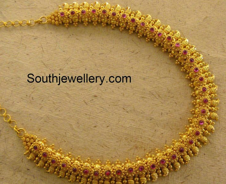 Traditional Gold Mango Necklace