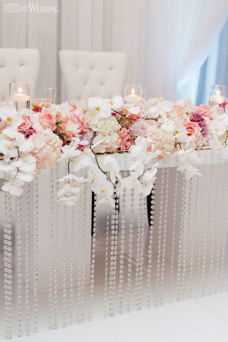 Beautiful Pink and Purple Wedding Esküvői dekorációk