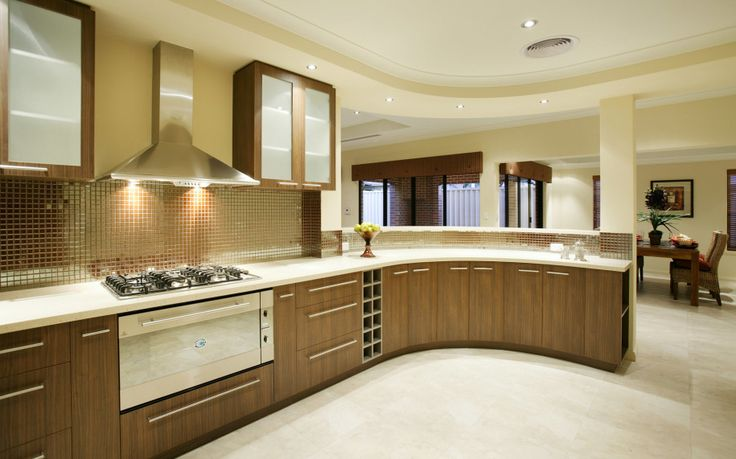 Delightful Tips To Create Modern Kitchen Designs: Wonderful New Modern Kitchen Designs  L Shaped With Wooden