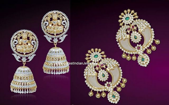 Diamond Jhumkas and Chandbalis