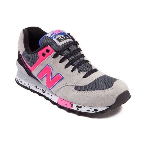 new balance grey and pink 574