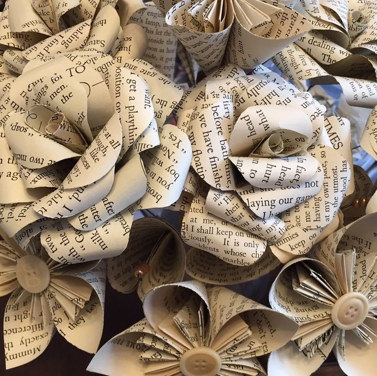 Beautiful vintage book page mixed flower bouquet - ideal gift for birthdays, anniversaries or even teacher gifts - custom orders always welcome