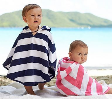 Rugby Stripe Baby Cover Up #pbkids Looks perfect for the beach or pool