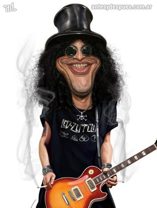 La caricatura de Slash