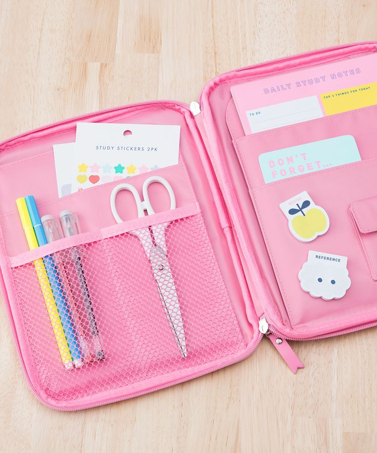 Back To School | Stationery Organiser | Stationery Case | Pink Stationery | Cute Design