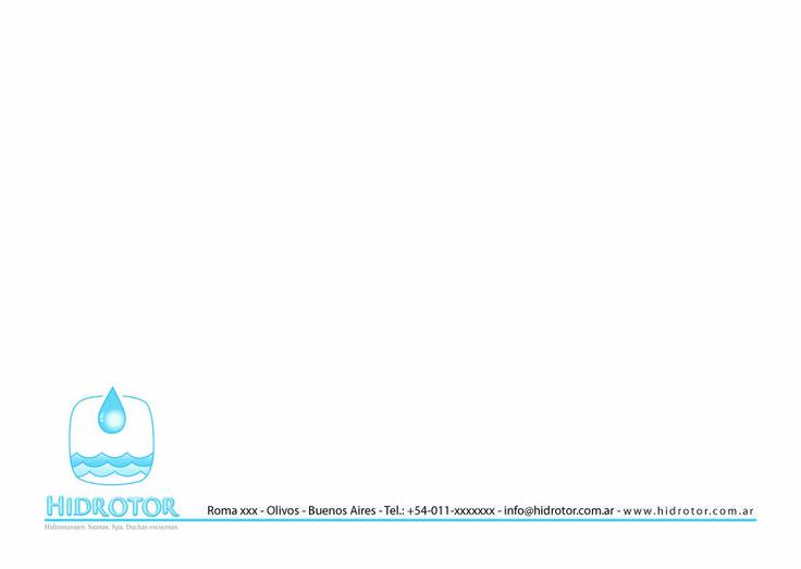 Cliente: Hidrotor | Fábrica de hidromasajes Imagen institucional • Sobres Bolsa confeccionados con solapa: Grandes (24,5 x 35) • Chicos (22,5 x 16)
