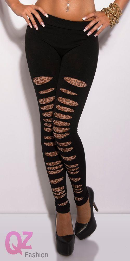 Qz Fashion Leggings 0000LM973L FEKETE