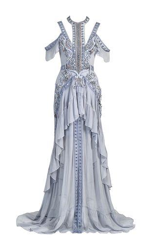 Thurley blue atlantis rises embellished gown