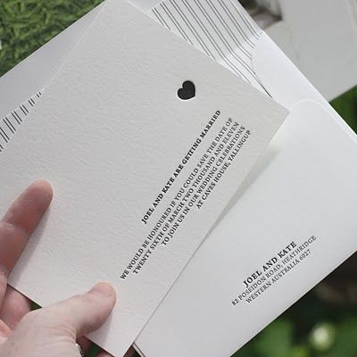 love the letterpress and the simplicity of the design.