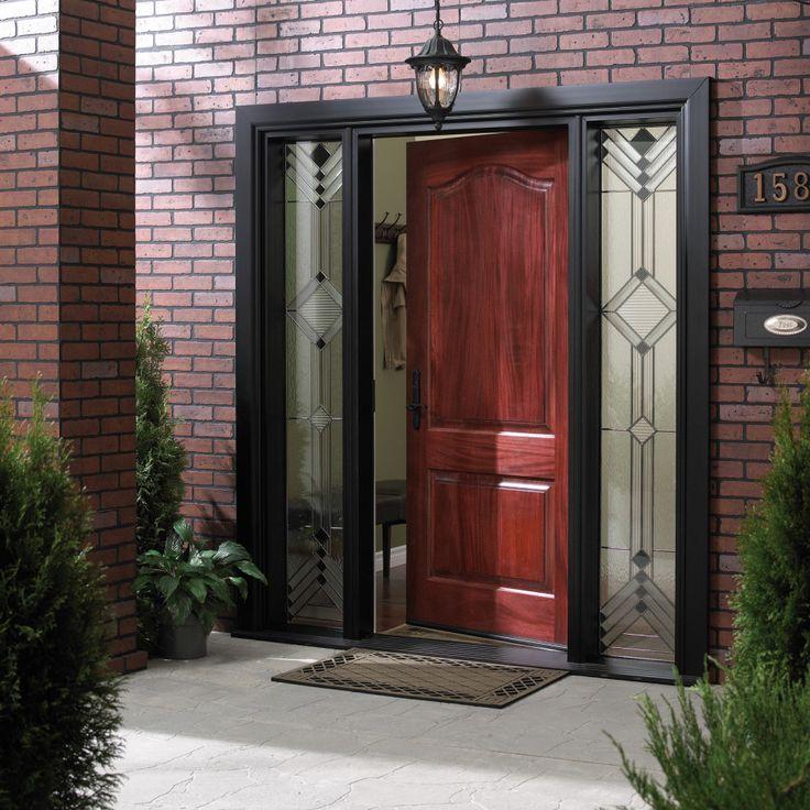 Classy And Artistic Wood Doors: Front Door Open