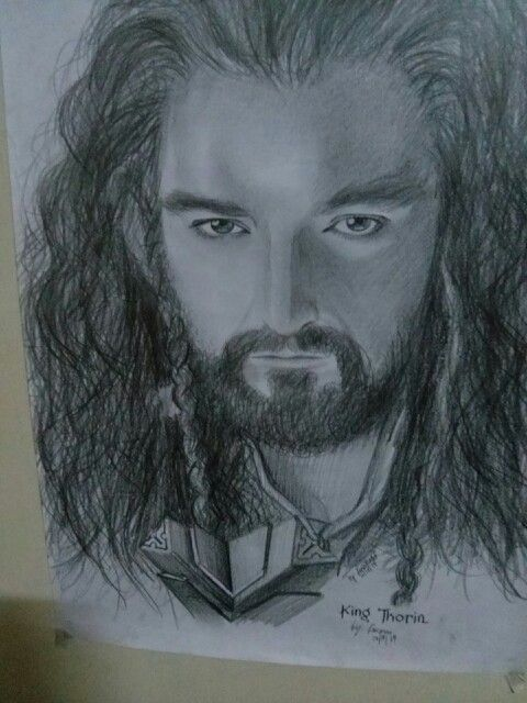 Thorin Oakenshield♥ #thorin #dwarfoferebor #drawing #thehobbit