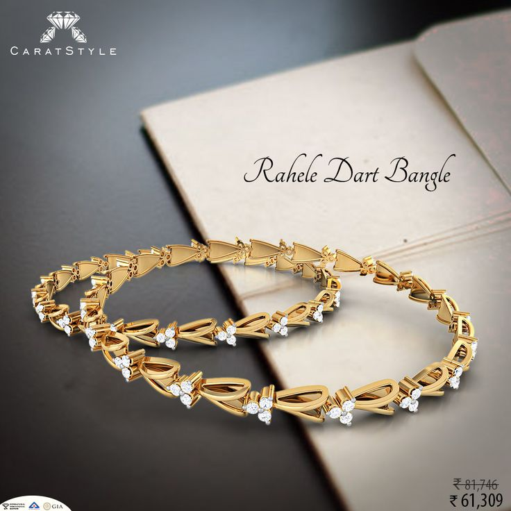 Now you have the best stories to Say! With Rahele Dart Bangle. #diamond #gold #bangle