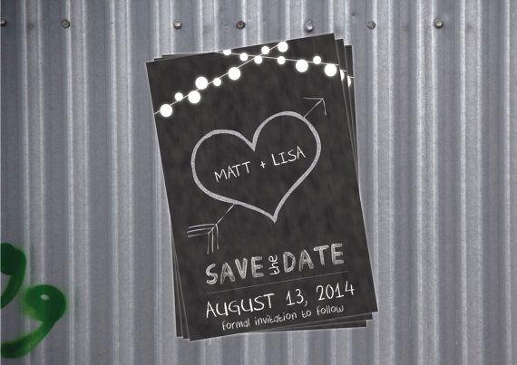 Save the Date - Blackboard or Chalkboard on Etsy
